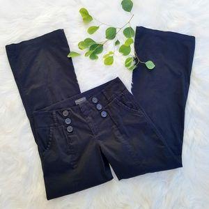 Sanctuary Black Sailor Button Flare Leg Pants sz29